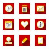 Plannende pictogrammen Royalty-vrije Stock Foto's