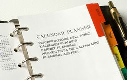 Planner Royalty Free Stock Photo