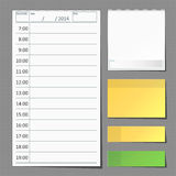 Daily planner. For efficiency use of time royalty free illustration
