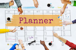 Planner Agenda Reminder Calendar To Do Concept stock illustration