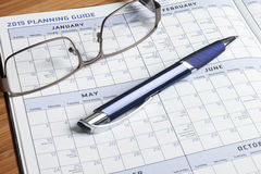 Planner book Stock Image