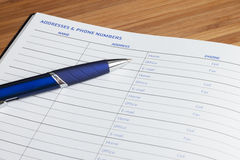 Planner book Stock Images