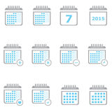 Planner Calendar. Business Icon Set royalty free illustration