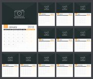 2018 Planner Royalty Free Stock Photography