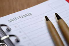 Daily Planner Concept Stock Images