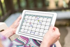 Planner concept on a tablet Royalty Free Stock Photography