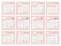 2017 Planner Design. 2017  Calendar Planner Design of illustrator Royalty Free Stock Photography