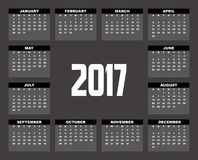 2017 Planner Design. 2017  Calendar Planner Design of illustrator Stock Photography