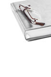 Planner with glasses on a white background isolate Royalty Free Stock Photography