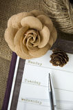 Planner page with decoration Royalty Free Stock Photos