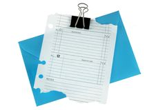 Planner page end envelope Stock Photo
