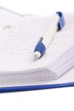 Planner with pen Royalty Free Stock Photo