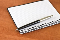 Planner and pen Stock Photography