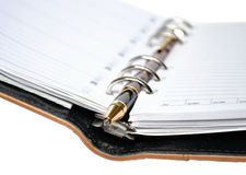 Planner and pen Royalty Free Stock Photo