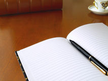 Planner with pen Royalty Free Stock Photography