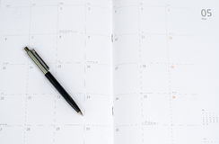 Daily planner with pen. Close up daily planner with pen Stock Photography