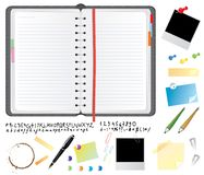 Daily planner set Royalty Free Stock Photos