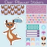 Planner stickers deer 1 Royalty Free Stock Photography