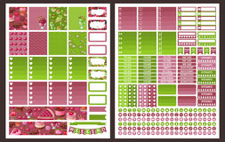 Planner Stickers. Vector Stock Image