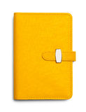 Planner Yellow Closed Stock Image