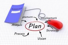 Plannig concept. Business plan concept as background Stock Photos