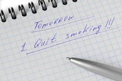 Plannig il fumo smesso Fotografie Stock