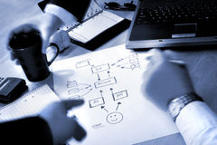 Planning. Business people planning Royalty Free Stock Photo