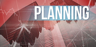 Planning against skyscraper Stock Images