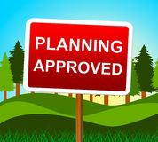 Planning Approved Means Plans Assurance And Verified Stock Photography