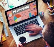 Planning Bar Graph Data Development Plan Strategy Concept Stock Images