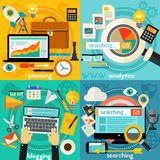 Planning, Blogging, Web Searching And Analytics Concept Royalty Free Stock Image