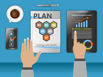Planning business. Planning launching business as a concept Royalty Free Stock Photos