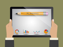 Planning business. Planning launching business as a concept Royalty Free Stock Image