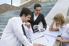 Planning of the business strat Stock Image