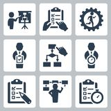 Planning and business strategy vector icons Stock Photo