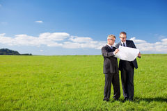 Planning businessmen Stock Image