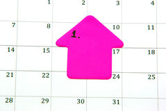 Planning on calendar Royalty Free Stock Images
