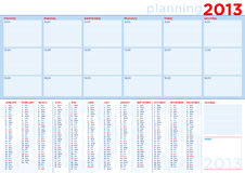 Planning calendar 2013 in english with copy-space Stock Image