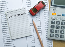 Planning Car payment Stock Images