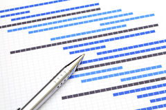 Planning chart for business project Royalty Free Stock Photos
