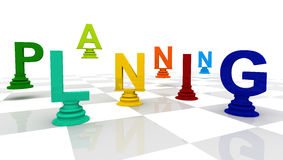 Planning Chess colorful Royalty Free Stock Photos