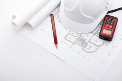 Planning of construction of the house. Stock Image