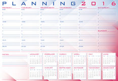 2016 Planning. With copyspace in purple and blue shadows Stock Photography