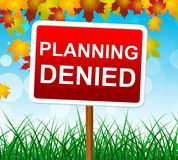 Planning Denied Means Missions Aim And Objective. Planning Denied Representing Goals Aspirations And Decline royalty free illustration