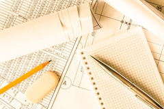 Planning the design works, to writing what to do Stock Photo