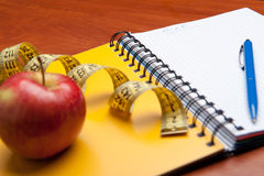 Planning of a diet Royalty Free Stock Photo