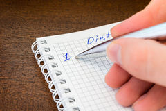Planning the diet Royalty Free Stock Photo