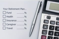 Planning the future after retirement. Royalty Free Stock Photos