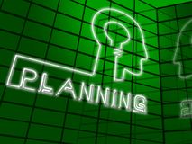 Planning Head Represents Goals Objectives 3d Illustration. Planning Head Represents Goals Objectives And Aspirations 3d Illustration Royalty Free Stock Photo