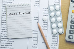 Planning Health expenses Royalty Free Stock Photography